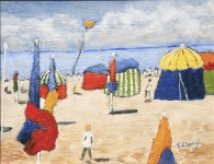Stephanie Dingle - Beach Tents and Kite, Deauville