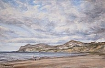 Stacey Manton - Kids and Dogs on Nefyn Beach