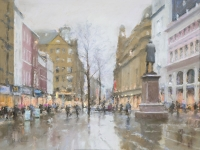 Bob Richardson - Evening in St Ann's Square,  Towards the Royal Exchange