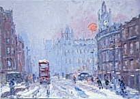 Reg Gardner - Towards Albert Square - Winter Sun