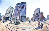 Stephen Campbell - St Peters Square Facing The Other Way