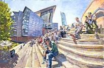 Stephen Campbell - On the Steps, Bridgewater Hall, Manchester