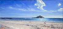 Stacey Manton - St Michael's Mount from Marazion Beach