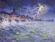 Reg Gardner - Lightening Storm at Cromer