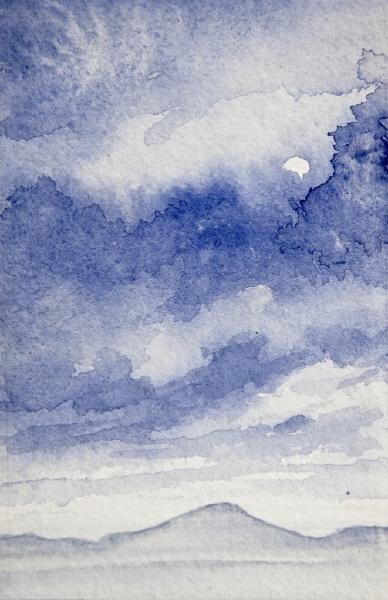 Landscape in blue trevor grimshaw clark art ltd for Artworks landscape ltd