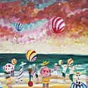 Ben Kelly - A Pink Man With Beach Balls, St Ives