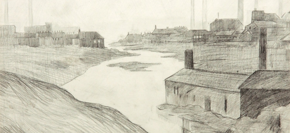 Lowry Study For The River Irwell At The Adelphi CMYK1