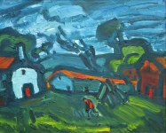 Theodore Major - Farm in Blue
