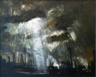 Theodore Major - Factories at Wigan with Shaft of Light