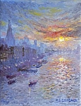 Reg Gardner - Sunset over the Shard