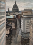 Harry Rutherford - Panoramic View of London and St Paul's Cathedaral