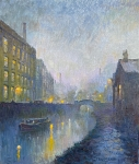 Reg Gardner - Royal Mills, Red St at Rochdale Canal